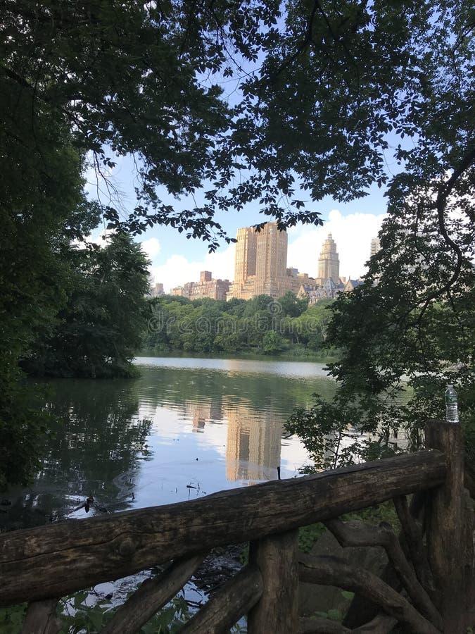 Pont de Central Park de dessus de New York photographie stock libre de droits