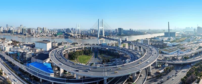 Pont de Changhaï Nanpu image stock