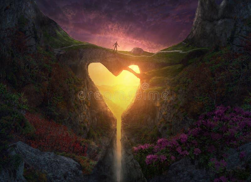 Pont de coeur de nature image libre de droits