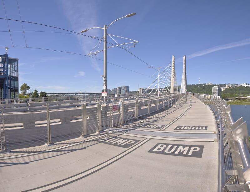 Pont de croisement de Tillikum Portland Orégon images libres de droits