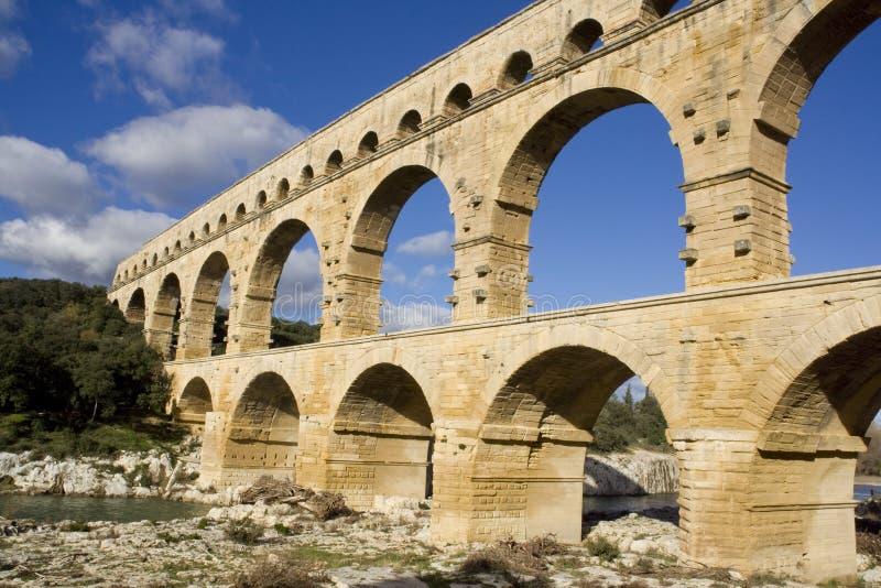 pont de du le Gard image stock