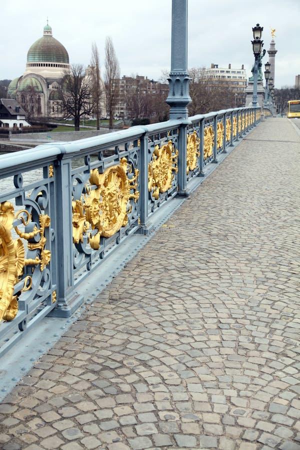 Pont de Fragnee Lieja Walonia Bélgica imagen de archivo