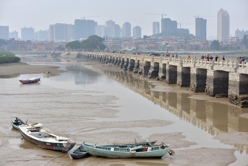 Pont de FUJIAN, CHINE - de Luoyang un site historique célèbre photos libres de droits