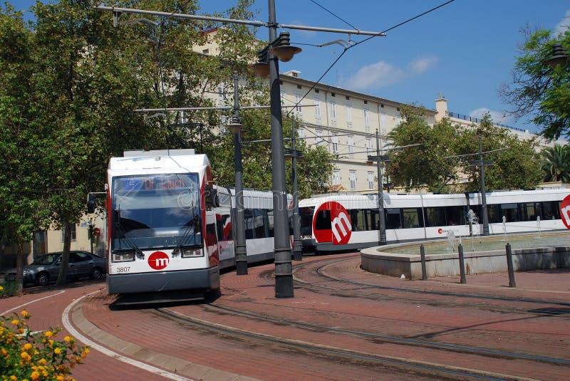 Pont de Fusta tram, Valencia stock images