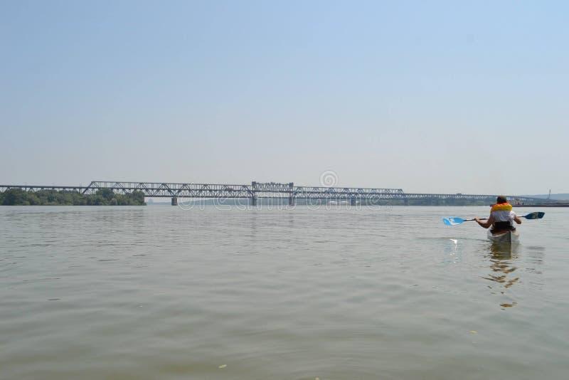 Pont de Giurgiu-Russe images libres de droits