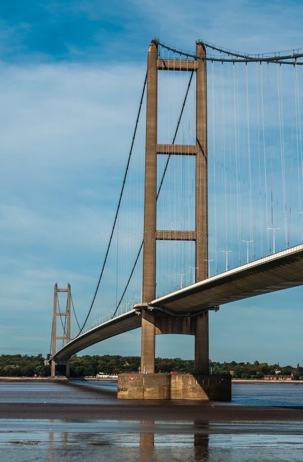 Pont de Humber, traversée de la rivière de pont suspendu photographie stock