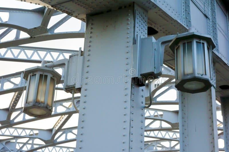 Pont de Katsukebashi sur l'ouverture et le pont fermant photographie stock libre de droits