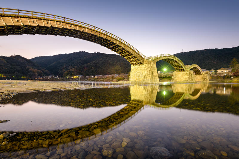 Pont de Kintai image libre de droits