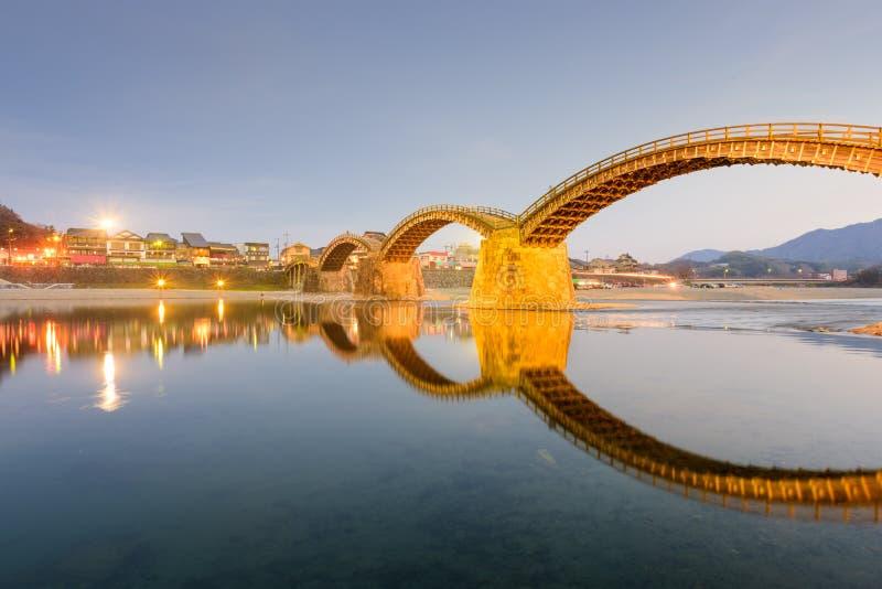 Pont de Kintaikyo au Japon photos libres de droits