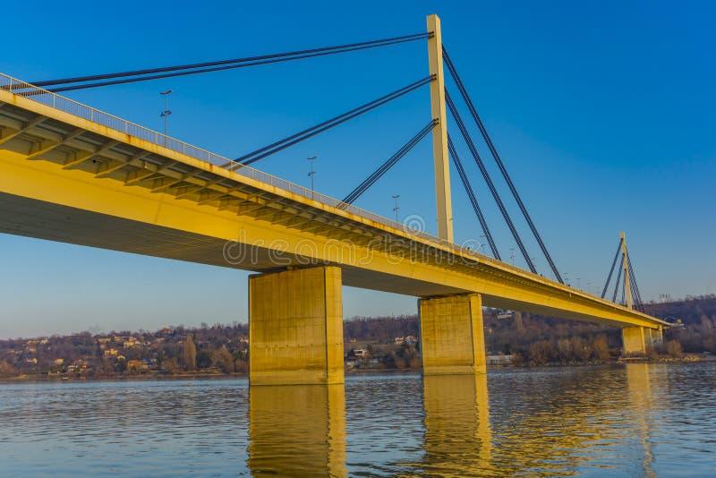 Pont de la liberté La plupart de Slobode sur le Danube à Novi Sad, Serbie image libre de droits