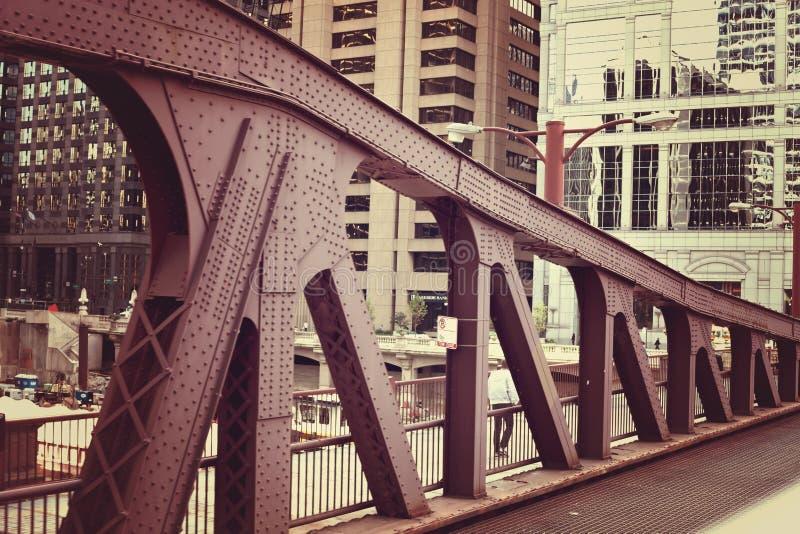 Pont de la rivière Chicago images libres de droits