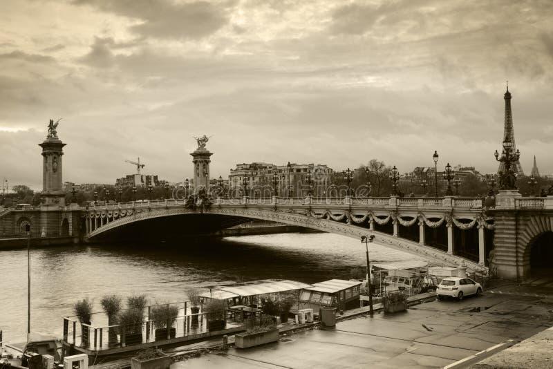 Pont de lll d'Alexandre à Paris photographie stock libre de droits