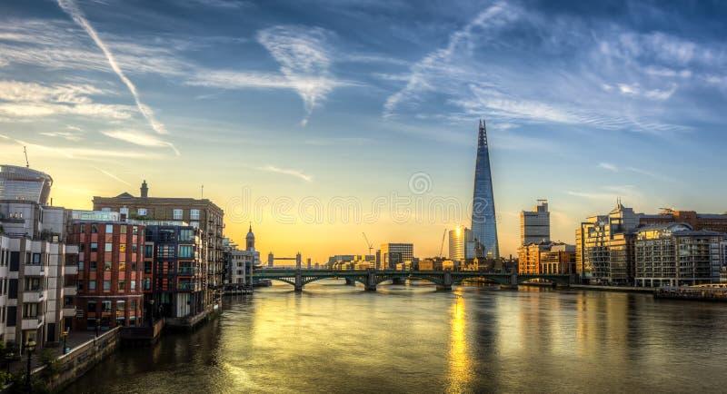 Pont de Londres de tesson photo stock