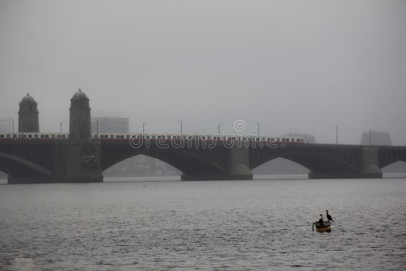 Pont de Longfellow à Boston photo libre de droits