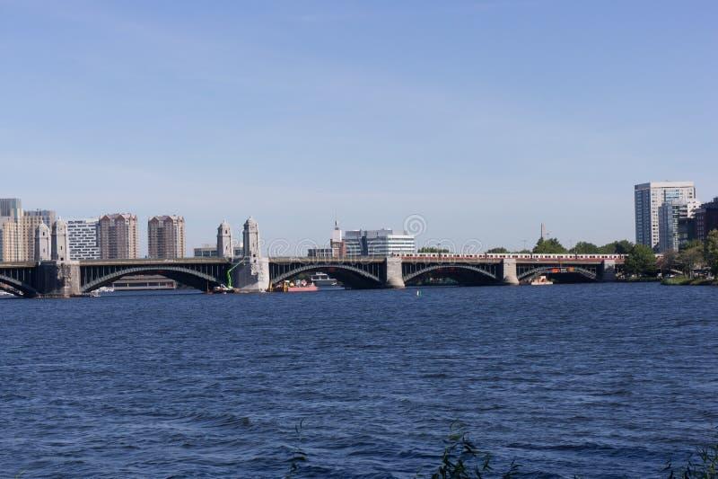 Pont de Longfellow à Boston, mA image stock