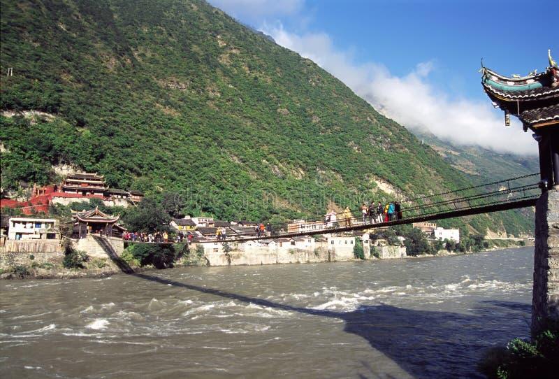 Pont de Luding image libre de droits