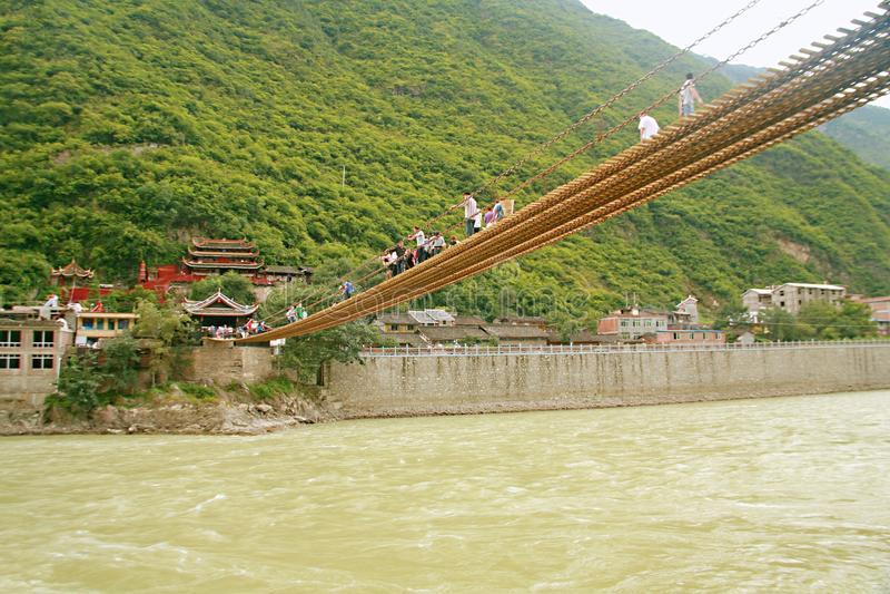 Pont de Luding dans Sichuan image stock