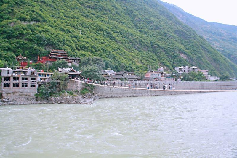Pont de Luding dans Sichuan photos stock