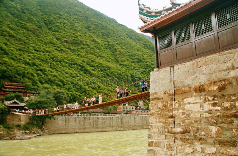 Pont de Luding dans Sichuan images stock
