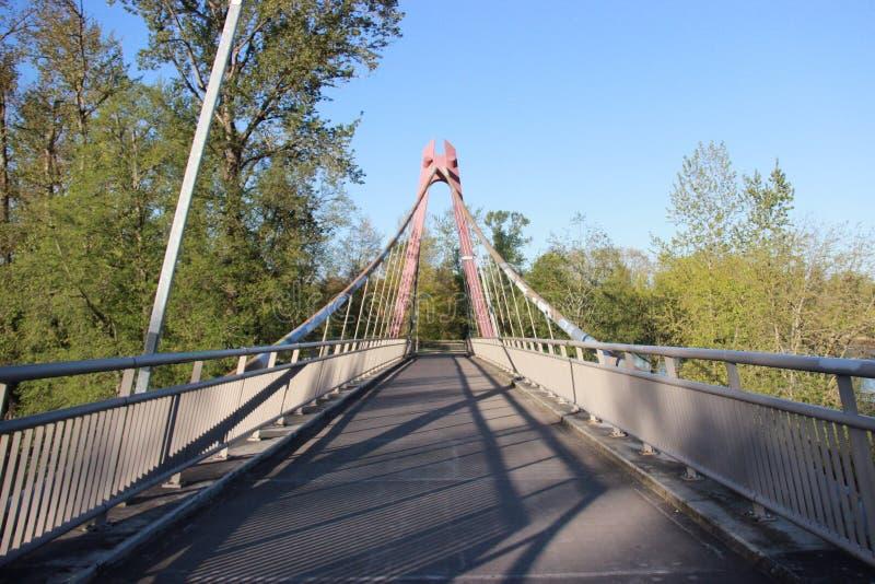 Pont de marche photographie stock