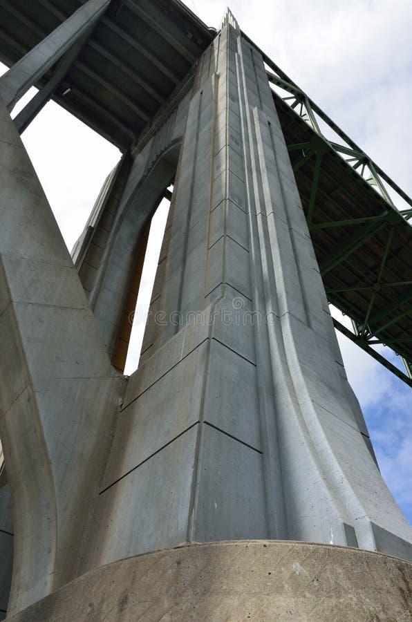 Pont de McCullough, courbure du nord, le comté de Coos, Orégon photos stock