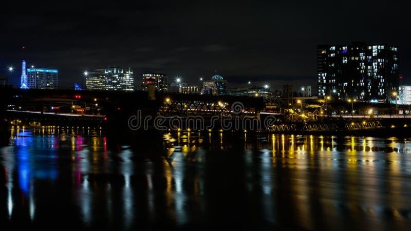 Pont de Morrison, Portland, Orégon, Etats-Unis images libres de droits