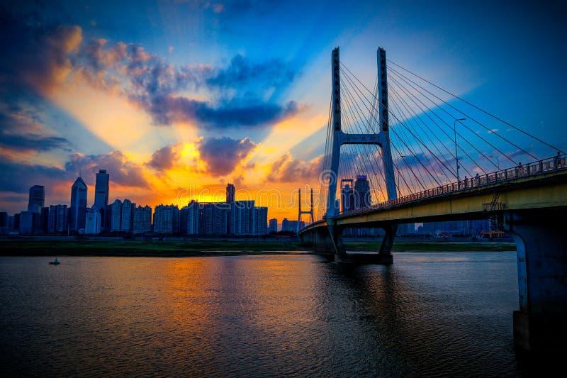 Pont de Nan-Tchang Bayi image libre de droits