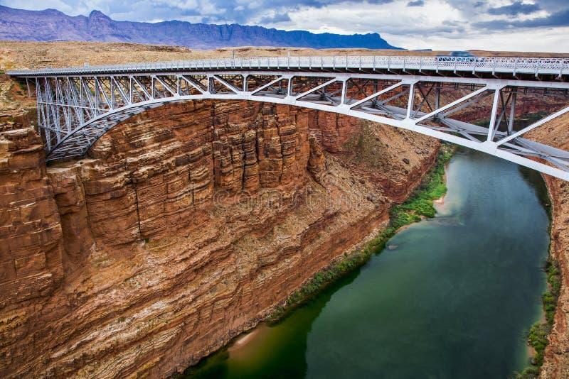 Pont de Navajo sur le fleuve Colorado photos stock