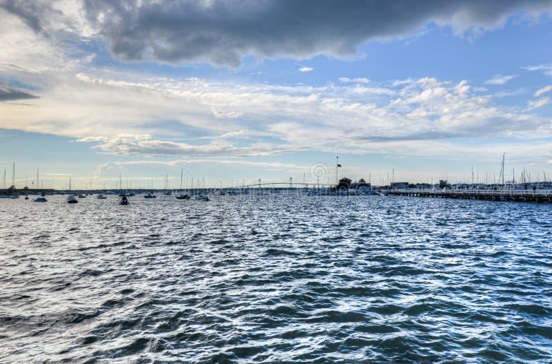 Pont de Newport - Rhode Island photographie stock