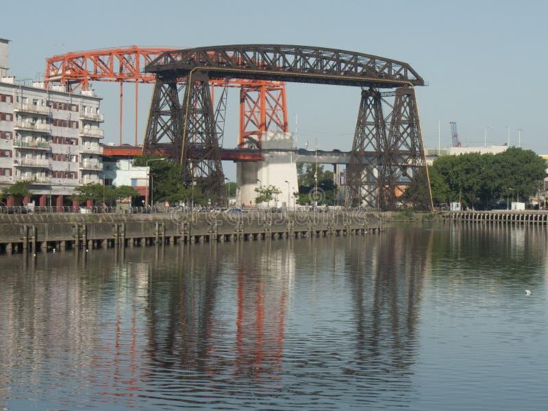 Pont de Nicolas Avellaneda Bridge Old de secteur de Boca de La, La Boca Buenos Aires Argentina Latin Amérique Sout de banlieue de images stock