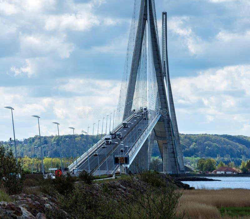 Pont de Normandie Мост стоковое фото rf