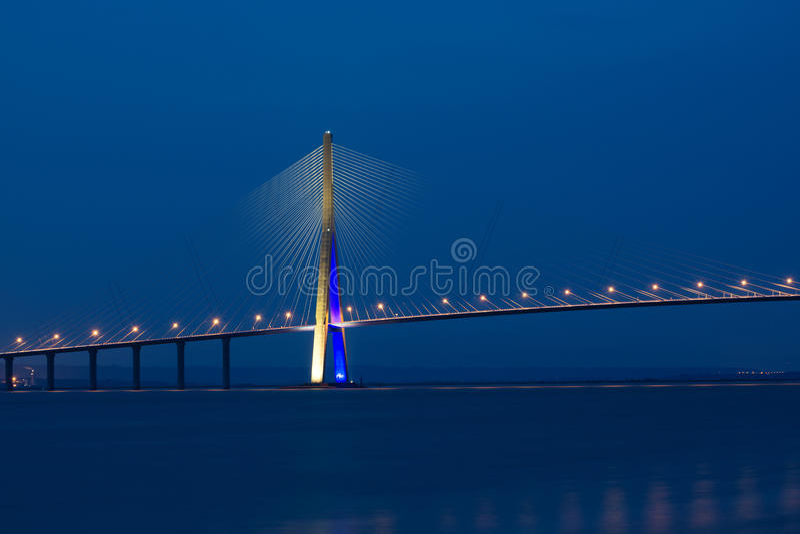 Pont de Normandie стоковые изображения rf