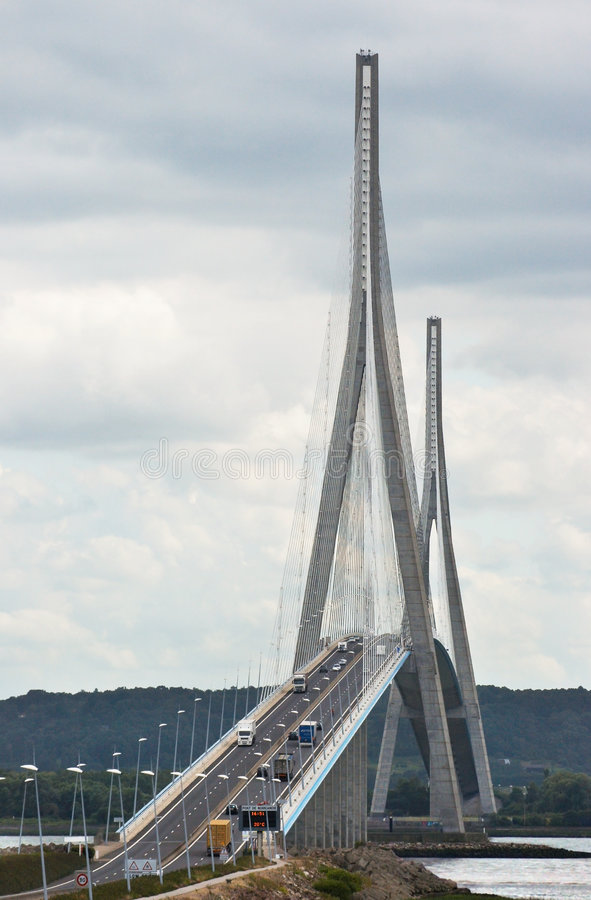 pont de normandie стоковое фото