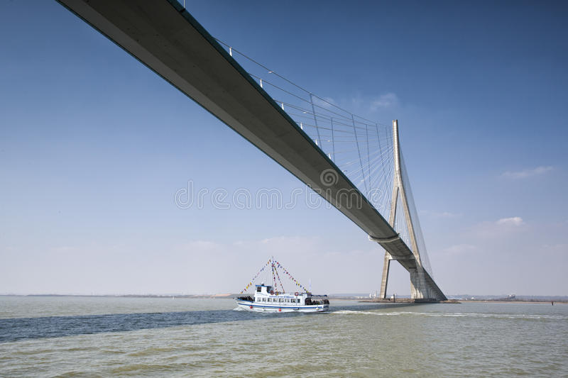Pont DE Normandie royalty-vrije stock fotografie