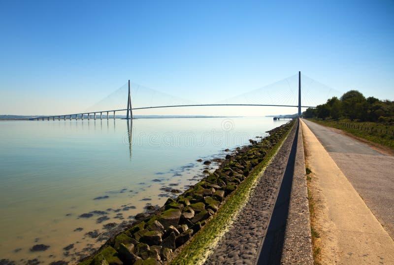Pont de Normandie, le Havre, France photographie stock