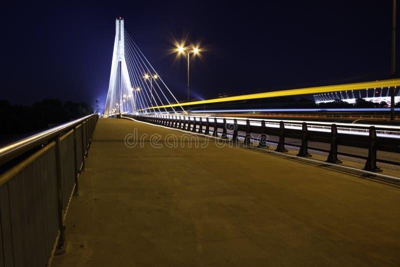 Pont de nuit photo libre de droits