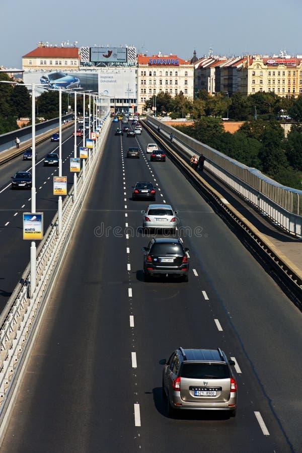 Pont de Nuselsky images libres de droits