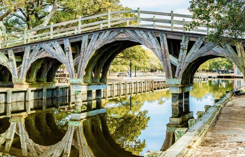 Pont de parc de Corolla photo stock