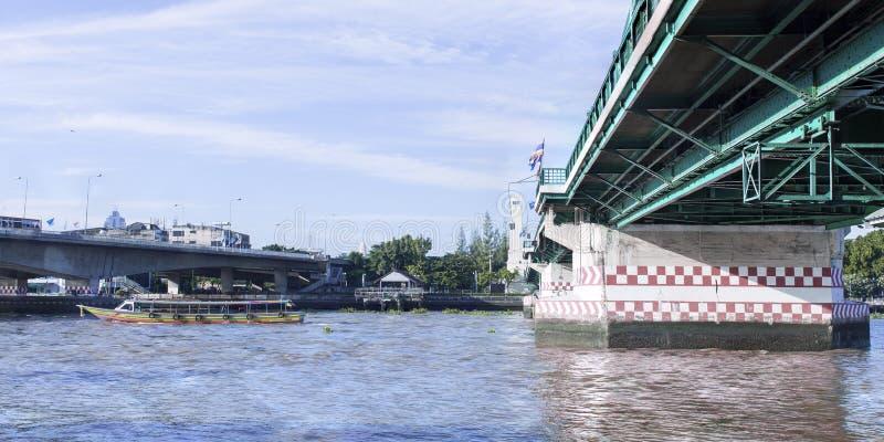Pont de Phra Phuttha Yodfa, pont commémoratif en Thaïlande photos libres de droits