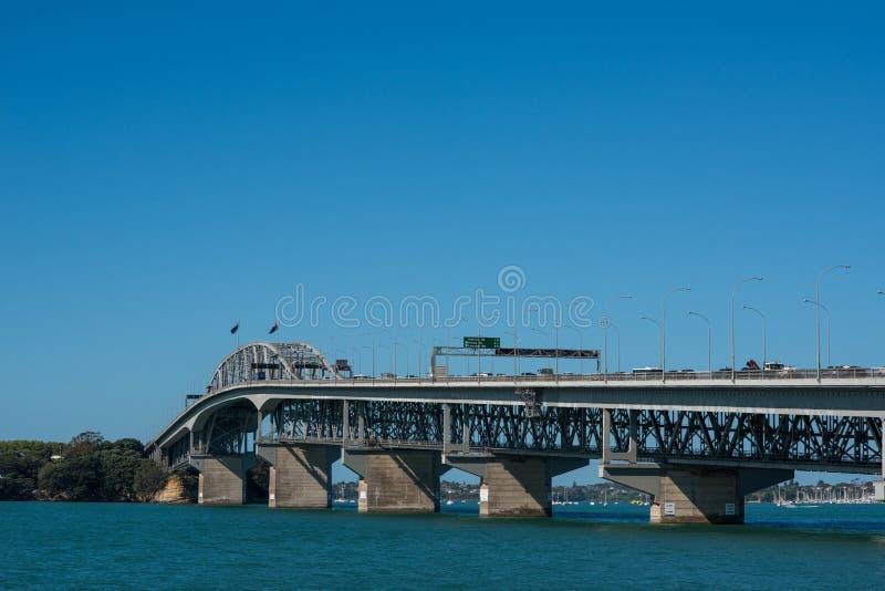 Pont de port d'Auckland image stock