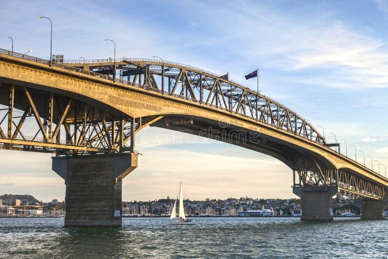 Pont de port d'Auckland, même photographie stock