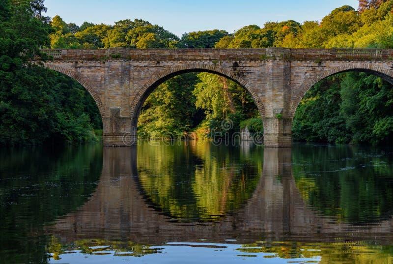 Pont de prébendes - Durham Angleterre R-U images libres de droits