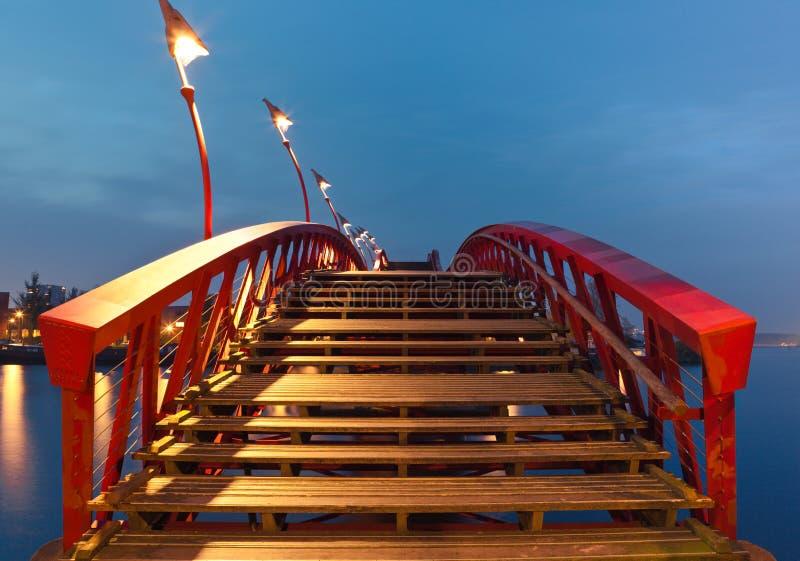 Pont de python à Amsterdam image libre de droits