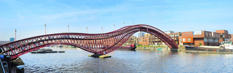 Pont de python, Amsterdam image stock