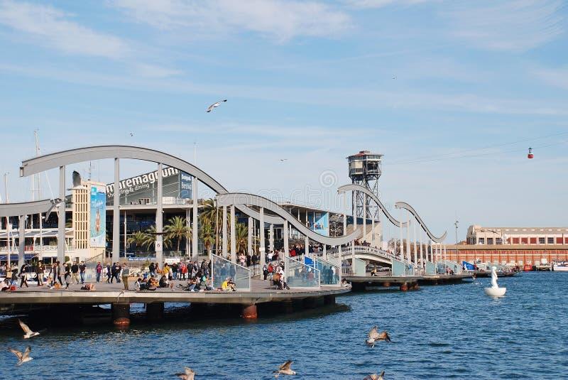 Pont de Rambla Del Mar, Barcelone image libre de droits