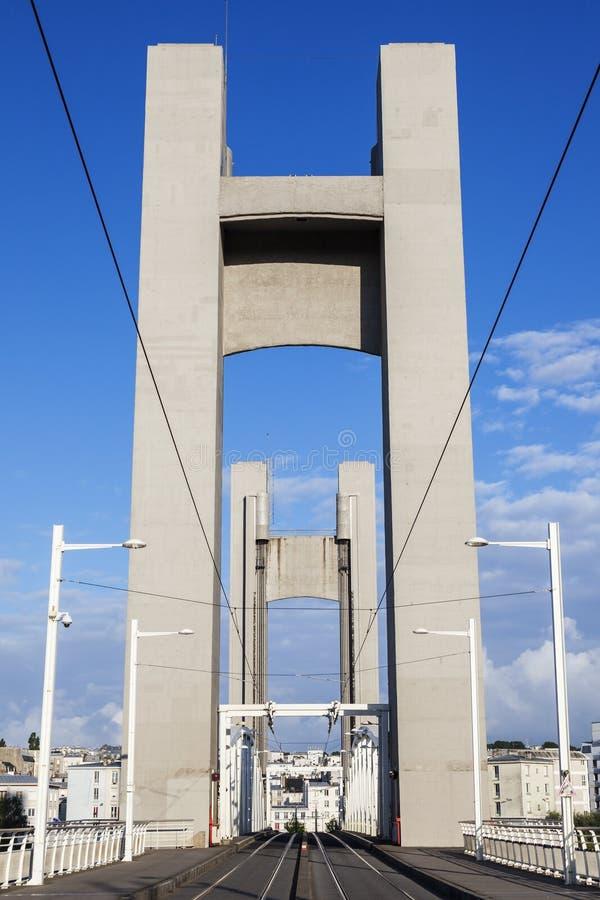 Pont de Recouvrance in Brest stockbild