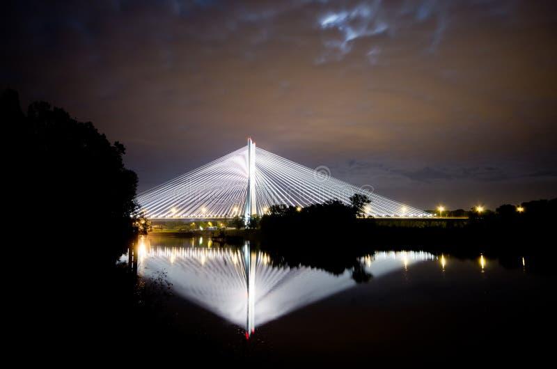 Pont de Redzinski à Wroclaw, Pologne photographie stock
