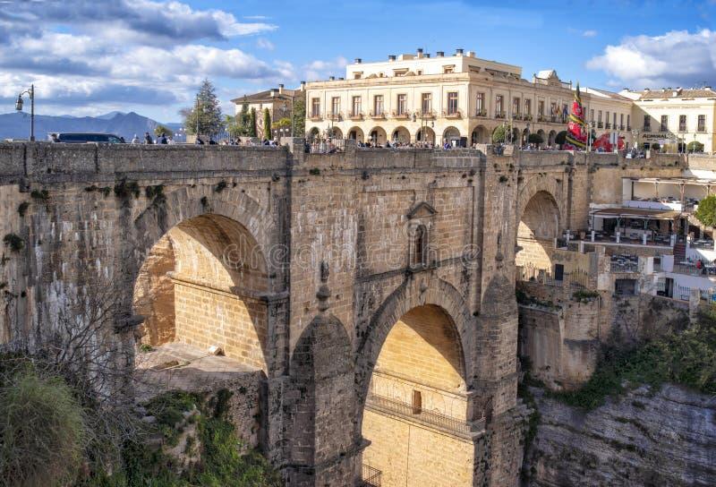 Pont de Ronda Roman et canyon, Andalousie, Espagne images libres de droits