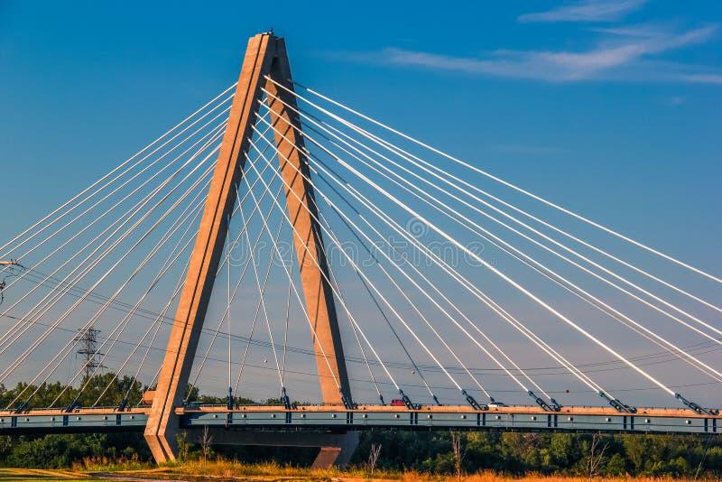 Pont de séjour de câble de Kansas City photographie stock