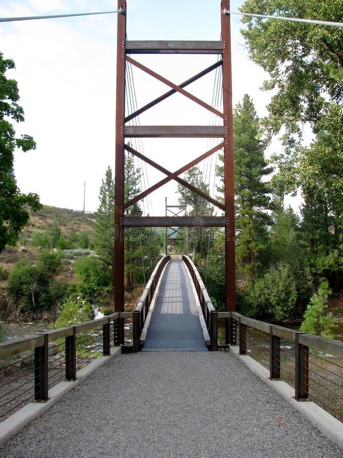 Pont de SA Teekh Wa, Winthrop, Washington photographie stock libre de droits